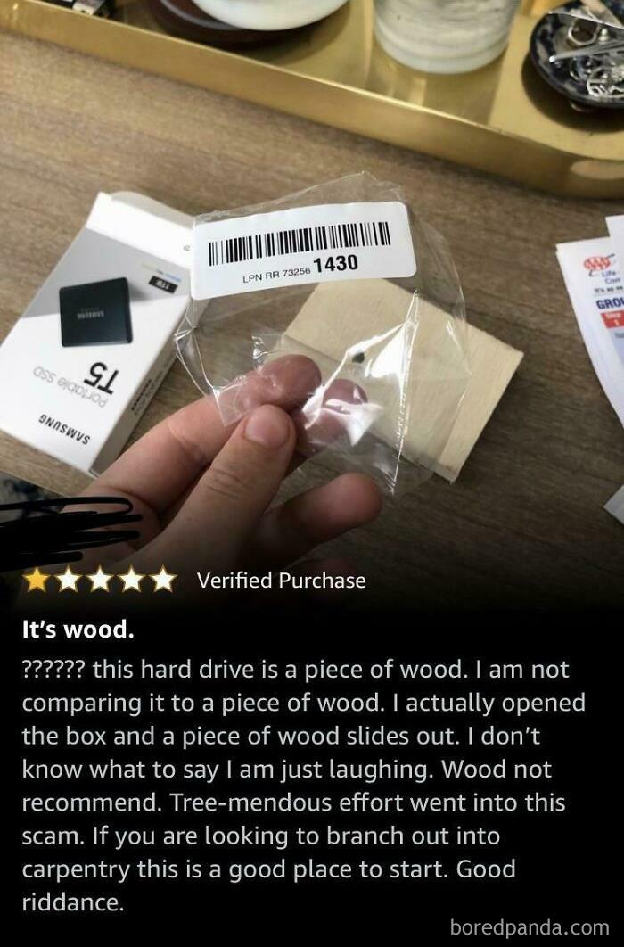 He Ordered A Terabyte Ssd... And Got Wood