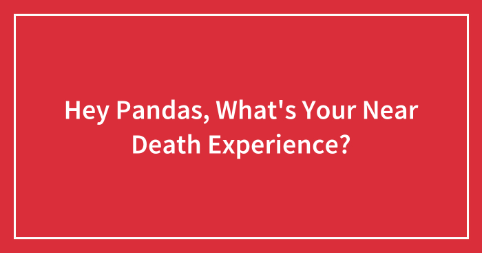 Hey Pandas, What's Your Near Death Experience? (Closed)