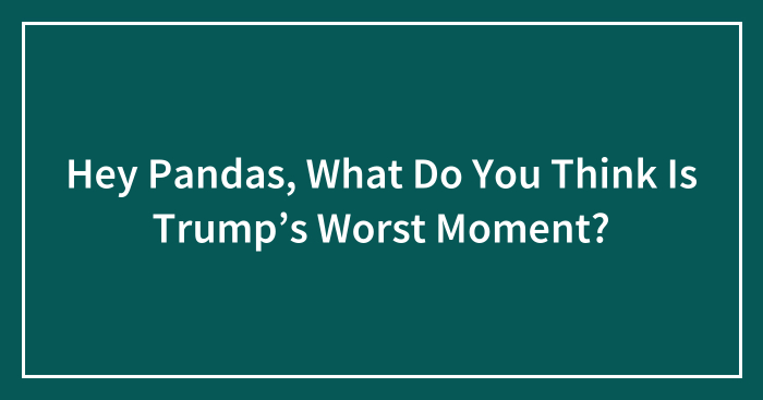Hey Pandas, What Do You Think Is Trump's Worst Moment? (Closed)