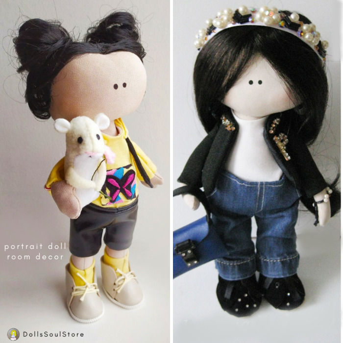 I Create Portrait Dolls From Fabric (7 Pics)
