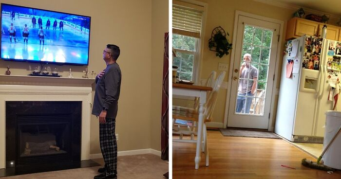 Someone Points Out That Dads Watch TV In A Very Specific Way, And It's Hilarious (25 Pics)