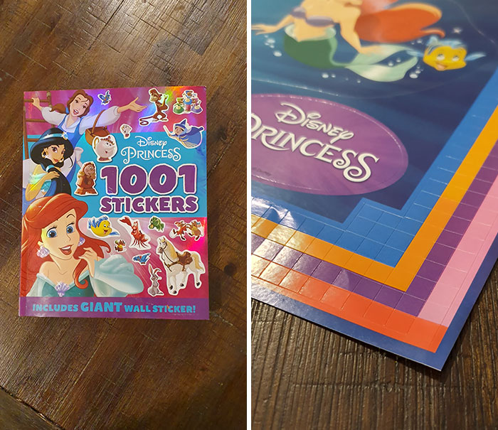 1001 Stickers And 768 Of Them Are Useless Squares. Thanks, Disney