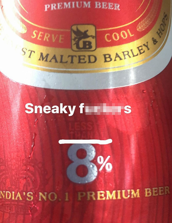 8% Alcohol Or