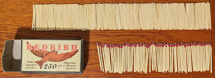 This Box Of Mostly Sticks With Some Matches In It