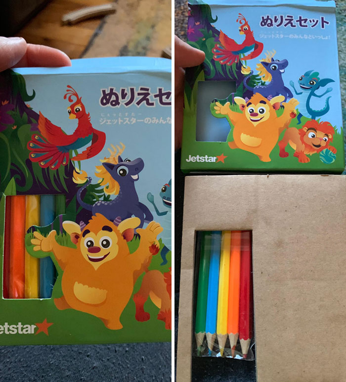 Thanks Jetstar For My Large Box Of Pencils