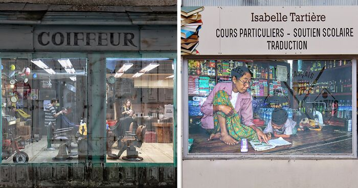 I 'Reopen' Businesses Closed Down In My Town Because Of The Pandemic By Superimposing My Photos From Around The World (31 Pics)