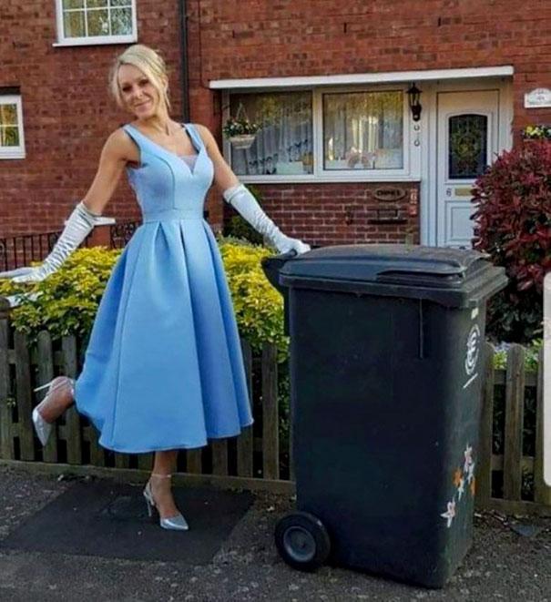 Dressing-Up-Gowns-Garbage-Can-Nicola-Matthews