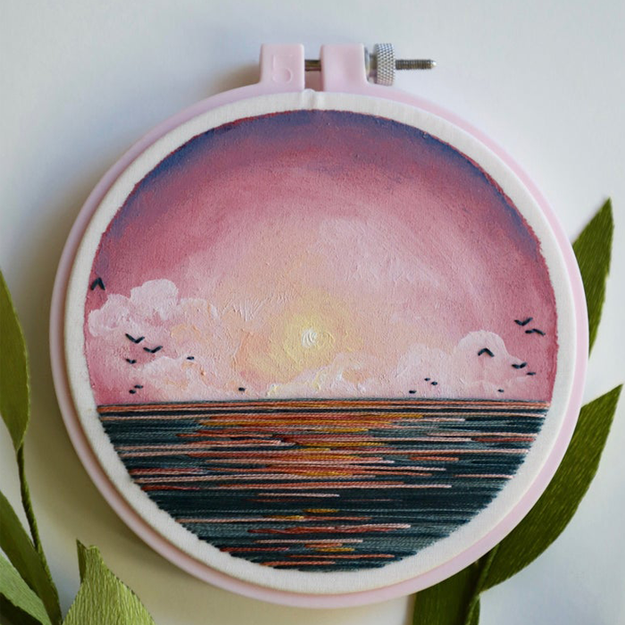 At The Beginning Of Lockdown, I Quit My Job And Started Making Embroidered Landscapes, Here Are My Best 30 Works