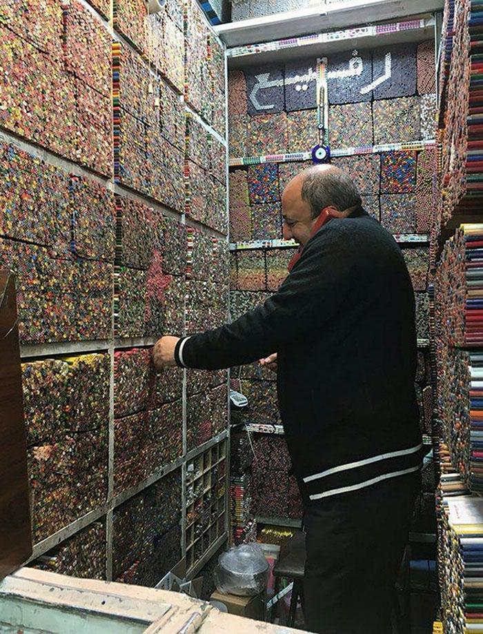 Esta tienda de lápices en Teherán, Irán