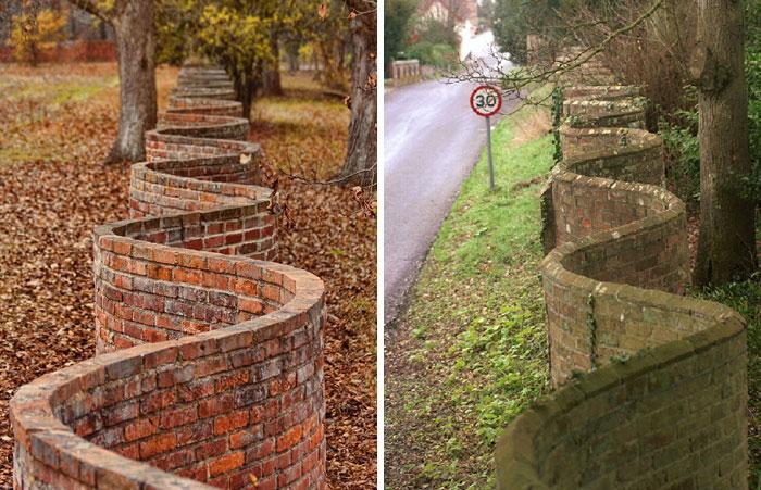 El Reino Unido está lleno de encantadores muros ondulados de jardín