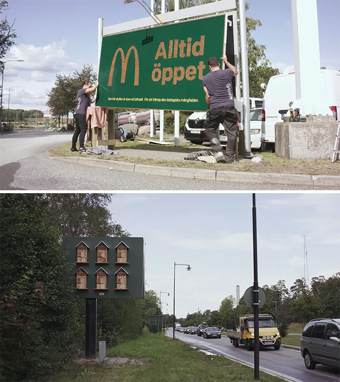 These McDonald's Billboards Double As Bee Hotels To Support Biodiversity