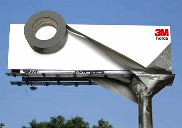 3m – Tape Holds Billboard