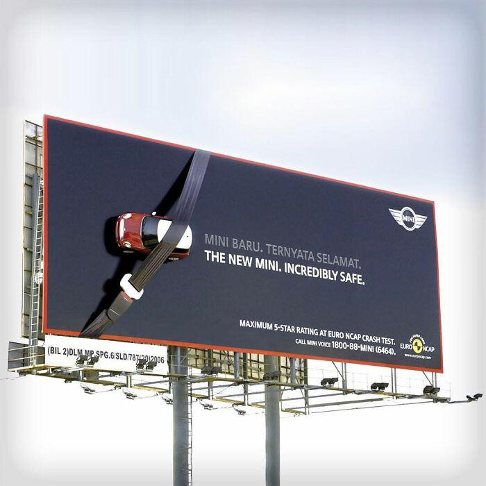 The New Mini Incredibly Safe Billboard