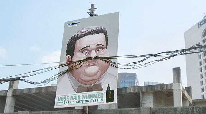 Ad For Panasonic's Nose Trimmer