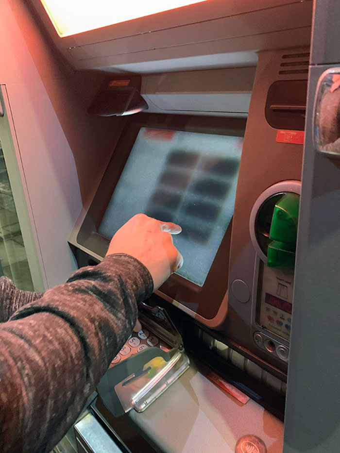 You Can't Read The Cash Machine Screen If You're Not Directly In Front Of It