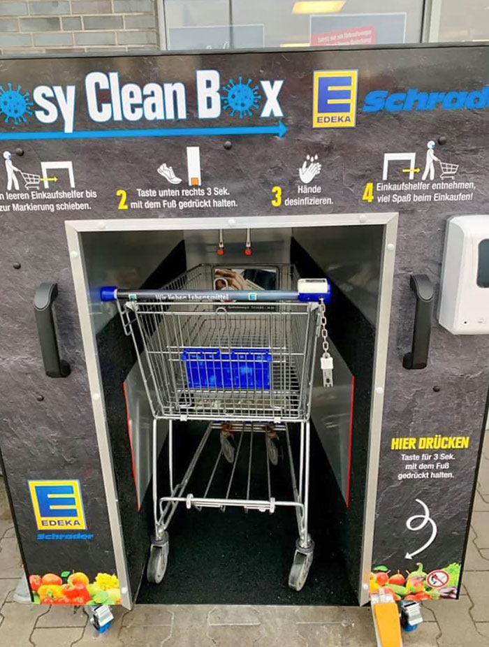 Shopping Cart Cleaning Machine In Germany