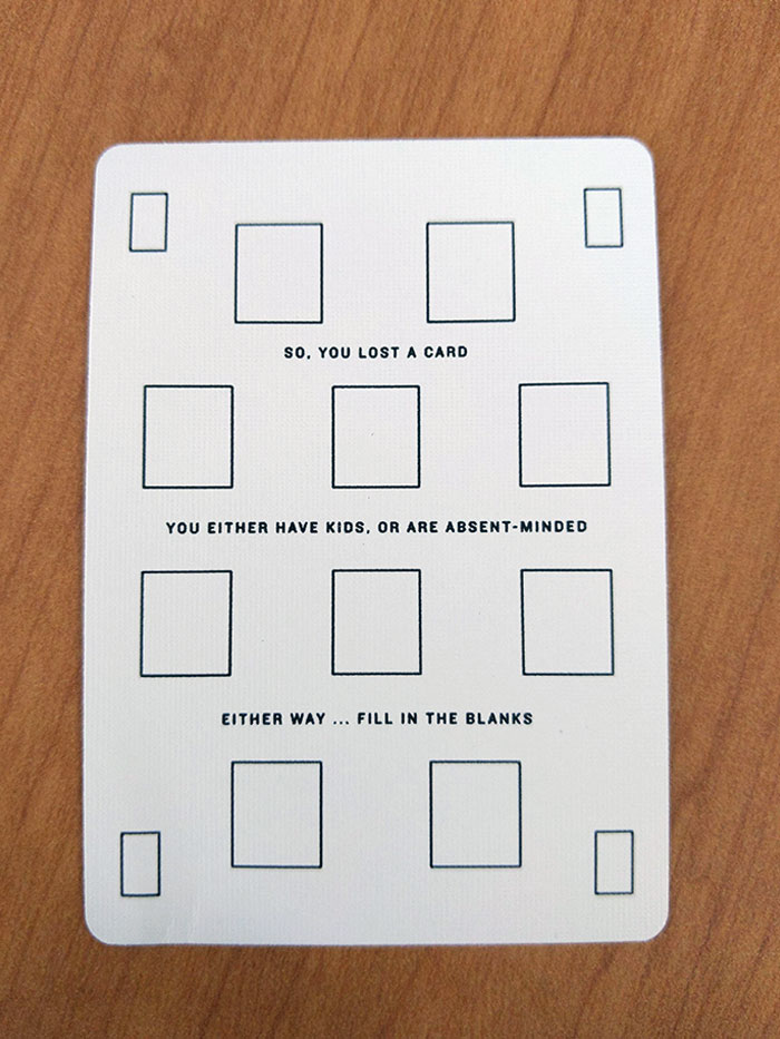 This Deck Of Cards Has A Blank For A Replacement If A Card Is Lost