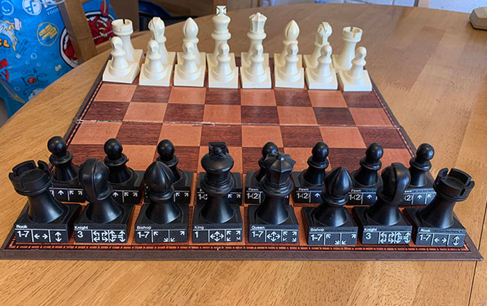 This Chess Set From 1972 Has The Valid Moves For Each Piece Stamped On Their Bases, Making The Game Much Easier For Beginners To Learn