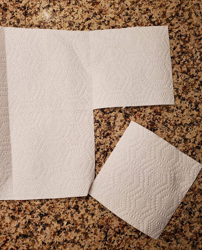 These Paper Towels Can Split Along The Other Axis, Creating Squares