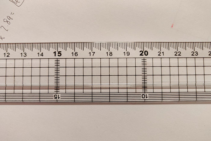 This Ruler Has Cascading Millimeter Mark That Makes It Easier To Read