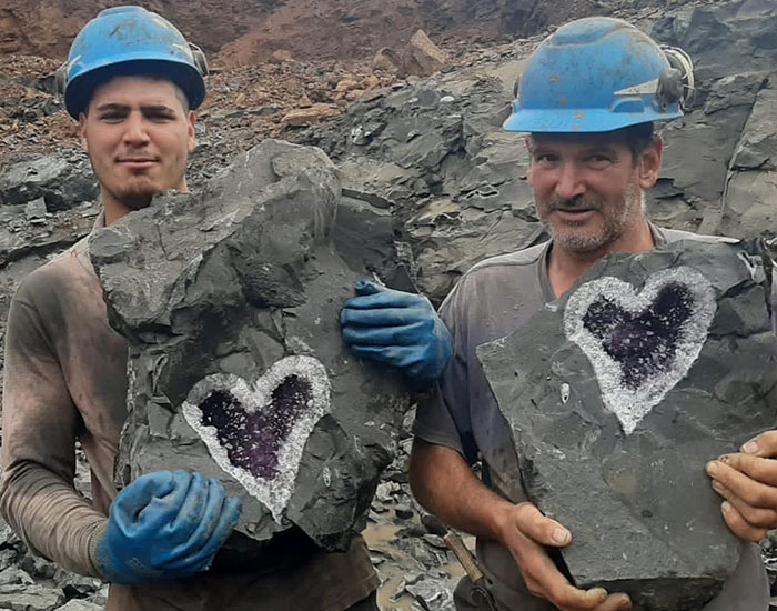 Once-In-A-Lifetime Find: Miners In Uruguay Get Surprised With A Beautiful Heart-Shaped Amethyst Geode