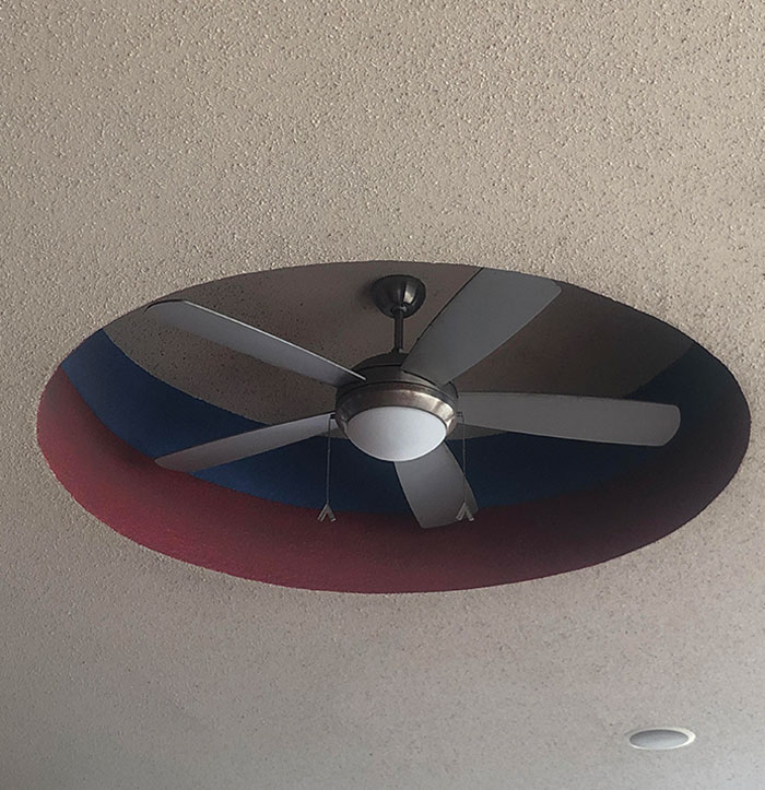 The Raised Cutout Of This Ceiling Doesn't Allow The Fan To Suck In Any Air