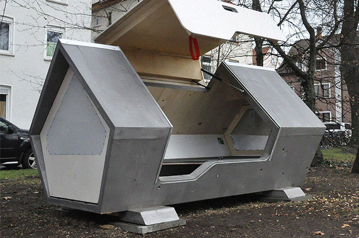 This City In Germany Has Sleeping Pods To Protect The Homeless From The Cold At Night