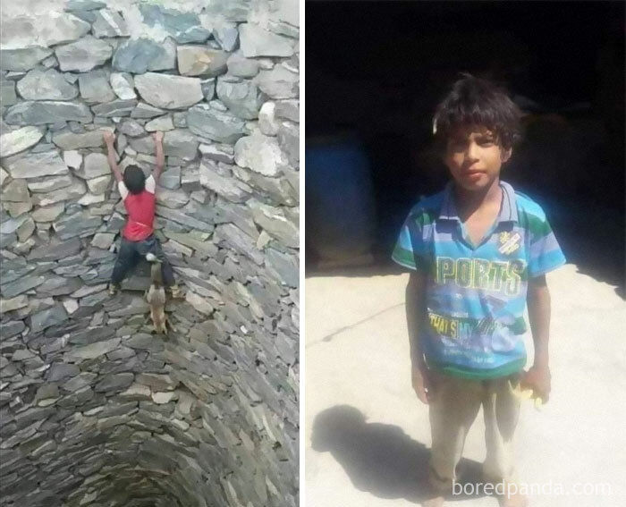 A 9 Year Old Boy From Yemen Rescued A Fox From A Well That Was 3 To 4 Floors Deep Without Any Insurance Ropes