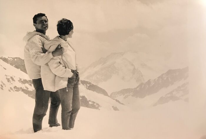 My Grandparents: 60s In Switzerland. On This Trip, The Decided To Try For A Baby, My Mom