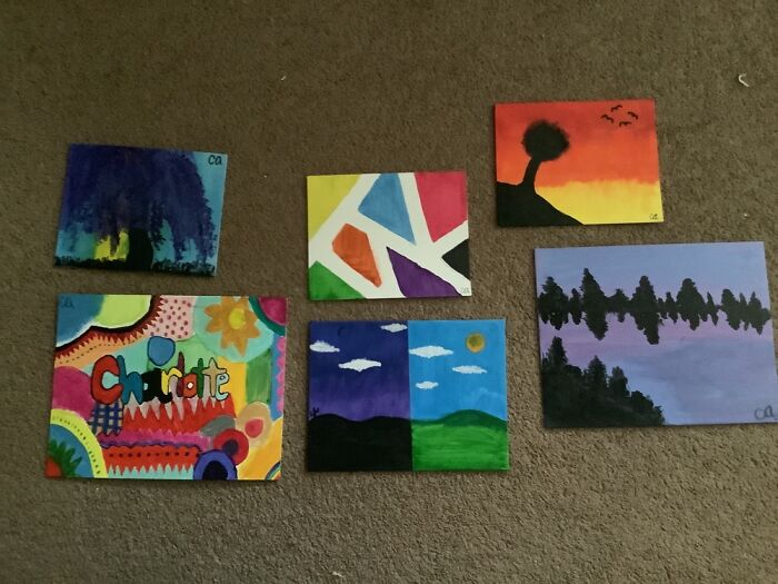 Here Are All Of My Paintings. Im A Beginner But I'm Still Proud Of Them!!,