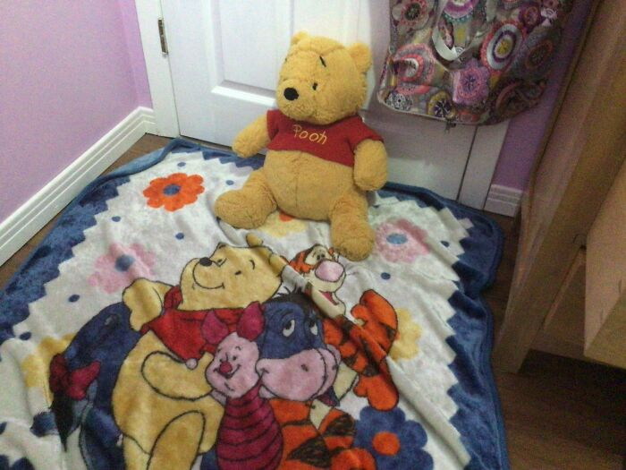My Winnie The Pooh Bear And Equally As Old Winnie The Pooh Bear Blanket