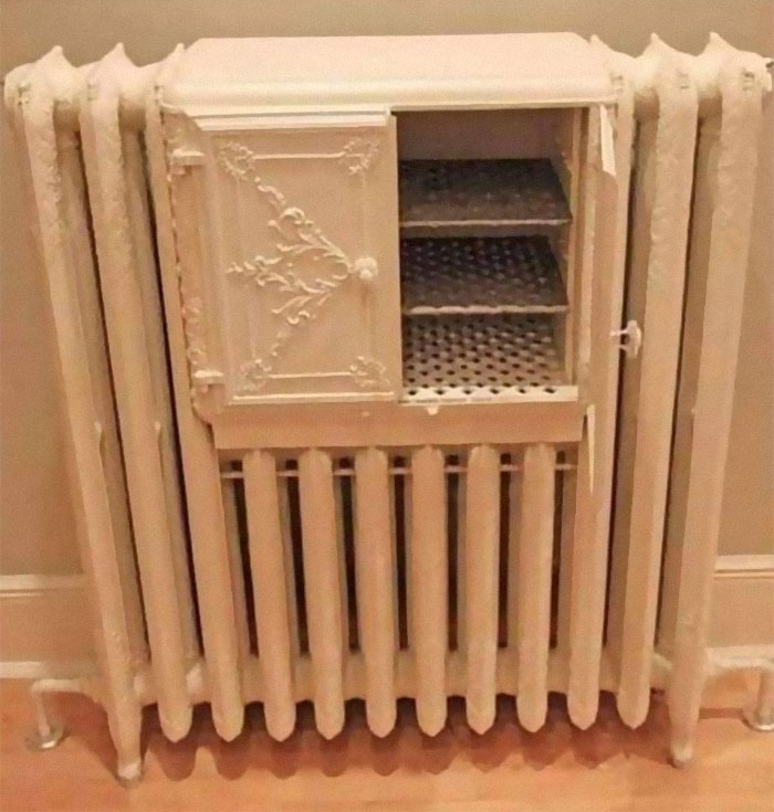 Radiator With A Bread Warmer