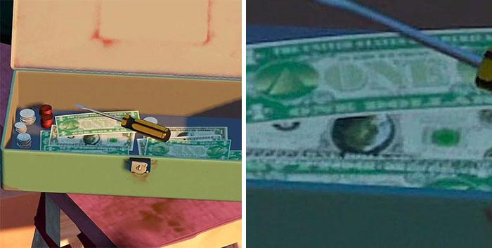 En Toy Story 2 (1999) Steve Jobs aparece en el billete de un dólar