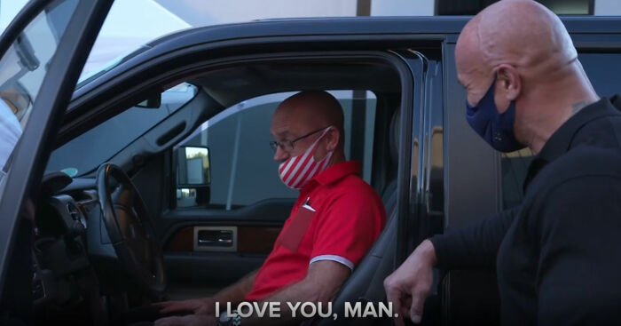 Dwayne Johnson Surprises A Lifelong Good friend Who Took Him In As A Homeless Teen With A $30k Pickup Truck