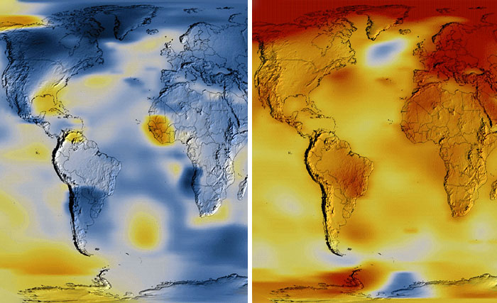 NASA Releases Heat Map Video Showing How 2020 Tied With 2016 In Being The Hottest Year On Record