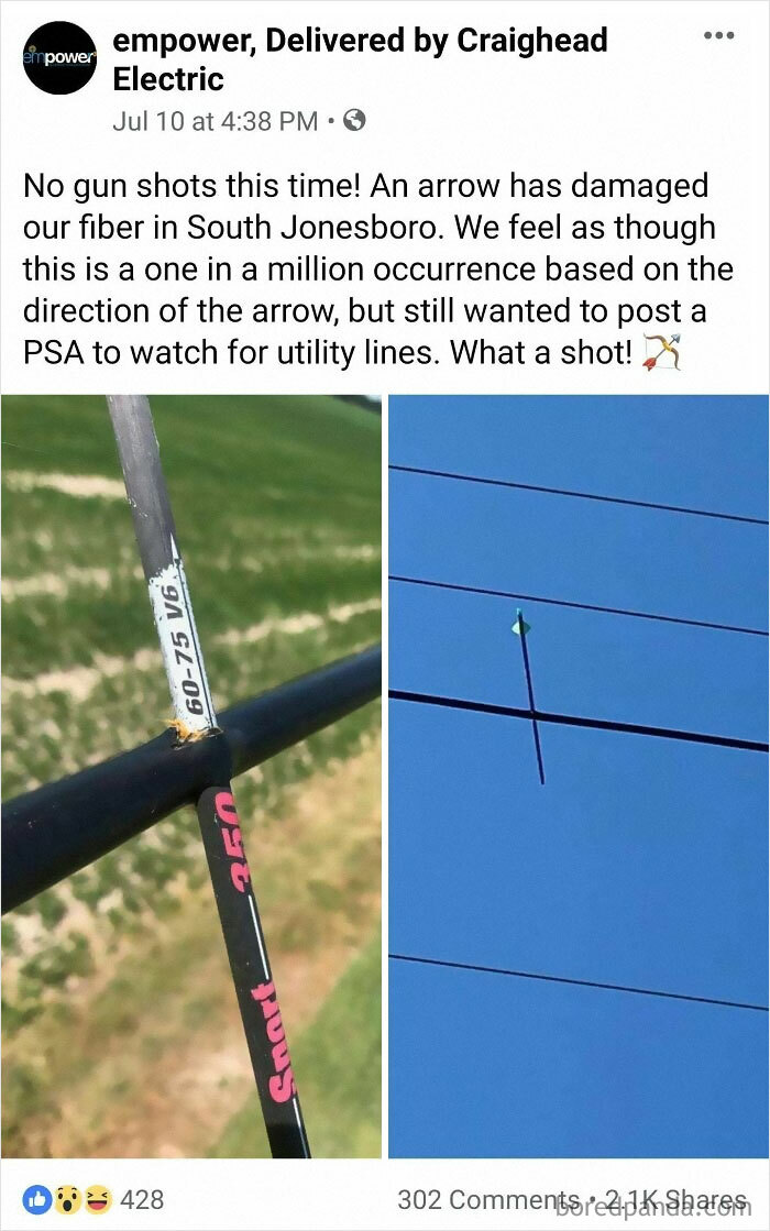 Arrow In A Power Cable