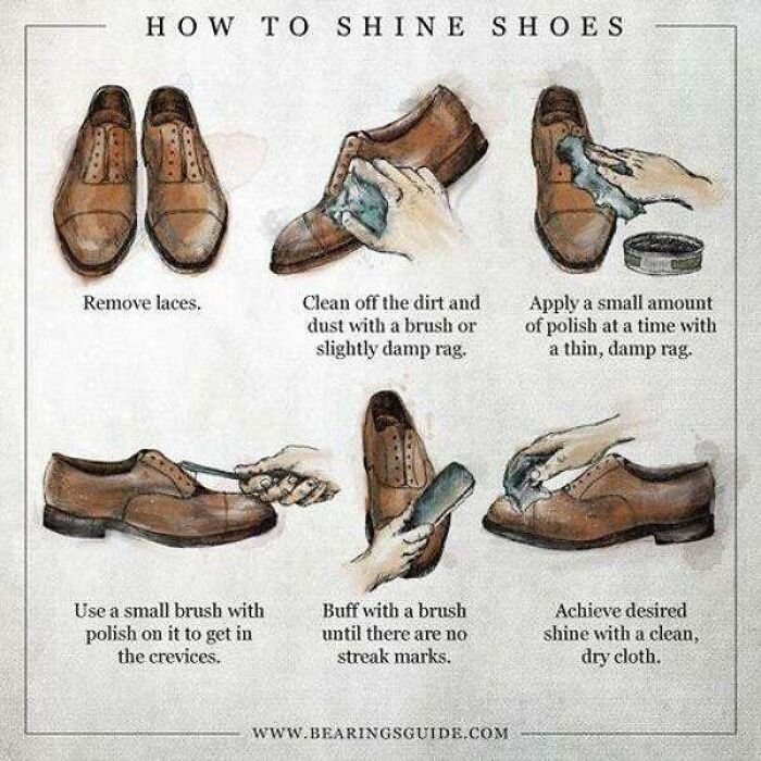 How To Properly Shine A Pair Of Shoes Or Boots