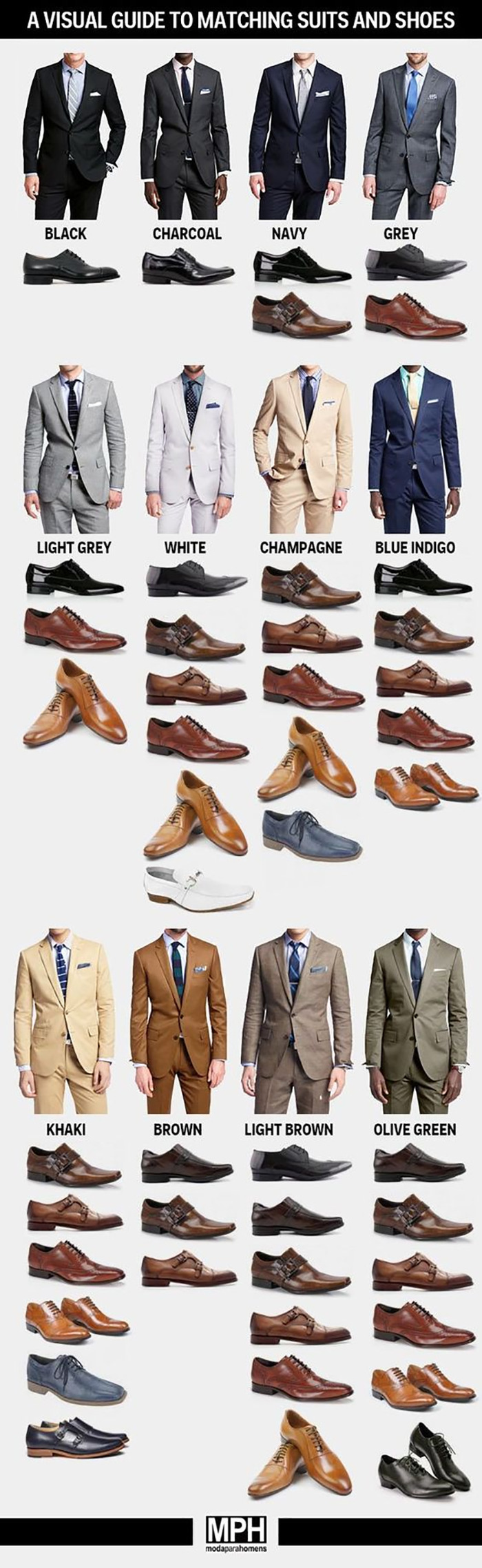 What Suits And Shoes Go Together