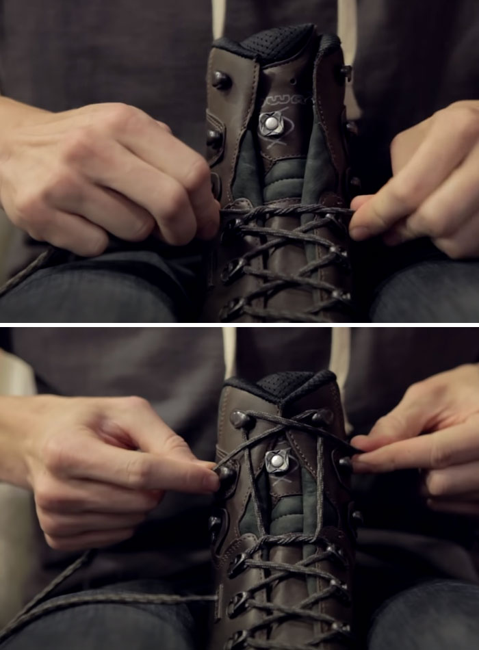 "The ""Heel Lock,"" A Way To Lace Up Boots To Make Them Feel Comfortable And Secure"