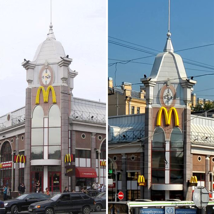 Clock Tower McDonald's (Date Unknown) St. Petersburg, Russia