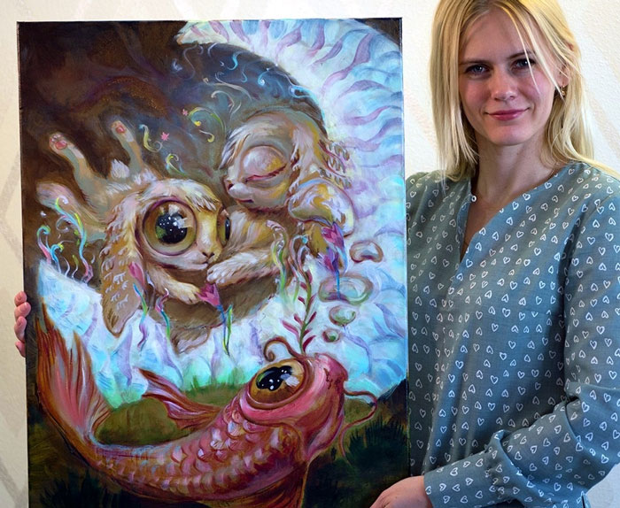 My 41 Whimsical Paintings Create Alternative Worlds