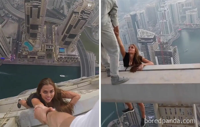A Russian Model Risking Her Life For An Instagram Picture