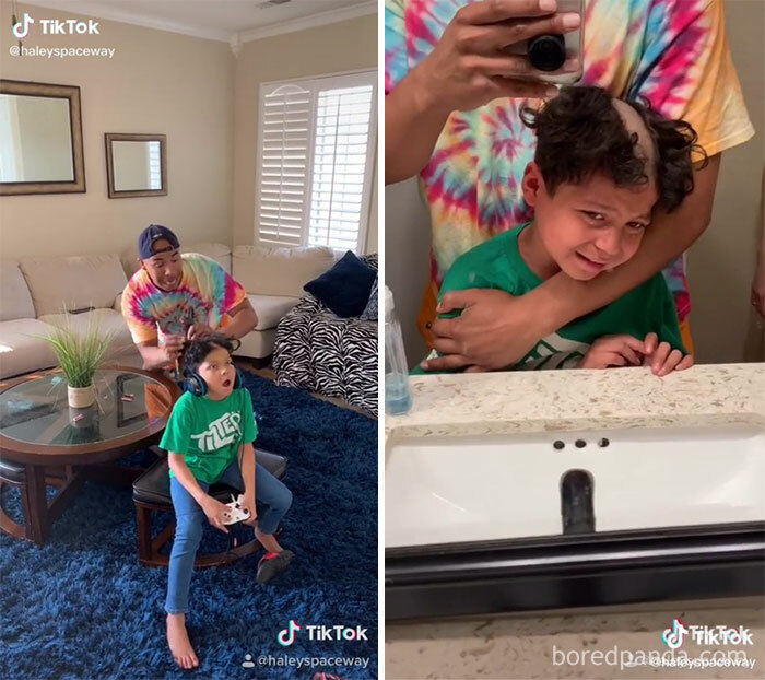 """Cutting Your Sons Hair And Making Him Cry For A Tiktok """"Prank"""""""