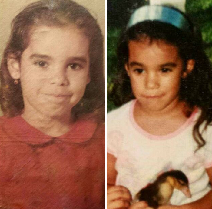 """My Whole Life People Have Told Me """"You Look Just Like Your Mom When She Was Your Age"""". I Never Saw It But When I Found This Old Picture Of My Mom (L) When She Was Little... I See It"""