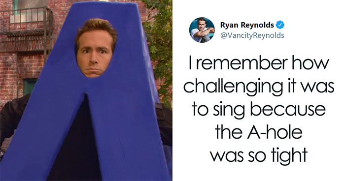 The Fact That Ryan Reynolds Once Wore An 'A-Hole' Costume On 'Sesame Street' Resurfaces