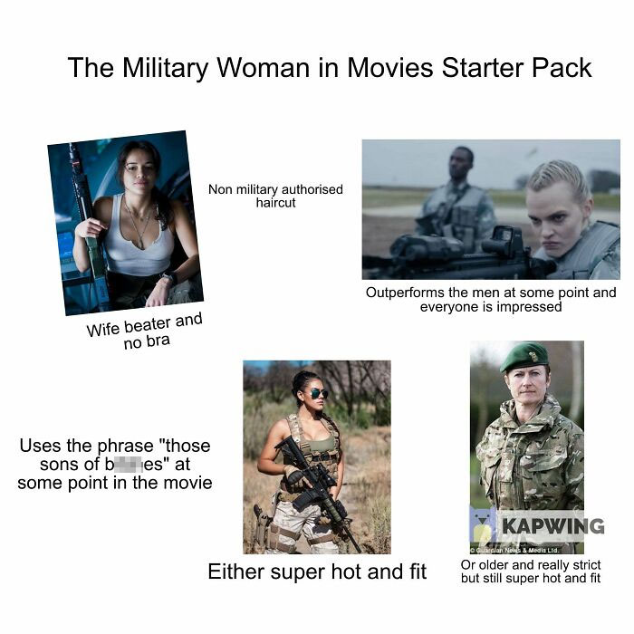 The Military Woman In Movies Starter Pack