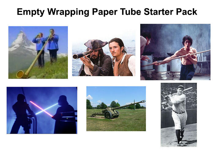 Empty Wrapping Paper Tube Starter Pack