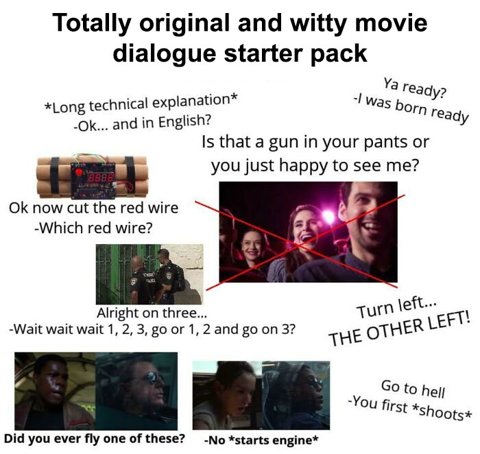 Totally Original And Witty Movie Dialogue Starter Pack