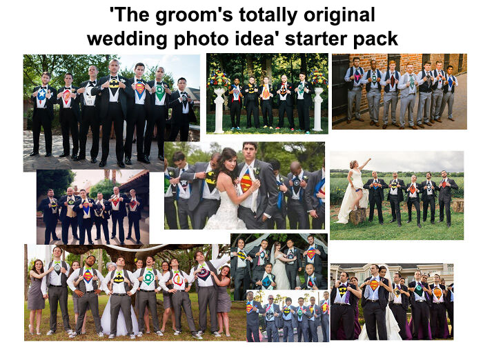'the Groom's Totally Original Wedding Photo Idea' Starter Pack