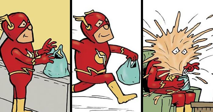 Artist Shows What Superheroes Are Doing When They Are Not Saving The World (69 Pics)